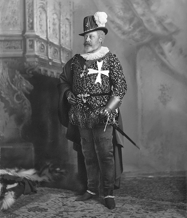 King Edward VII 1897 at the Devonshire House Ball by Lafayette, copyright V&A