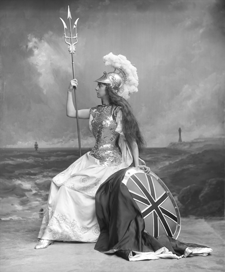 Lady Wolverton As Britannia At The Devonshire House Ball