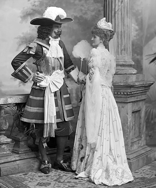 17th Earl of Derby (1865-1948) and  Mabel Susan, Baroness St. Oswald (d 1919) by Lafayette 1897