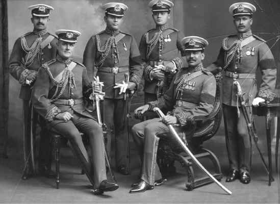 six soldiers in the staff of the Maharaja