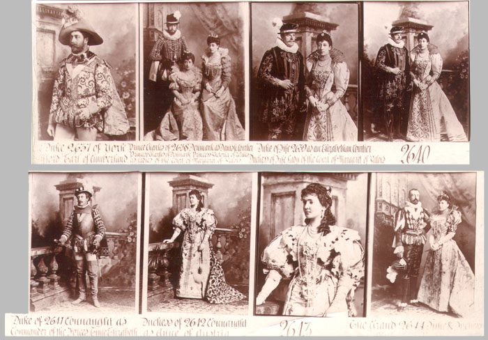 Display contact sheet from the London studio showing some of the images whose negatives have not survived